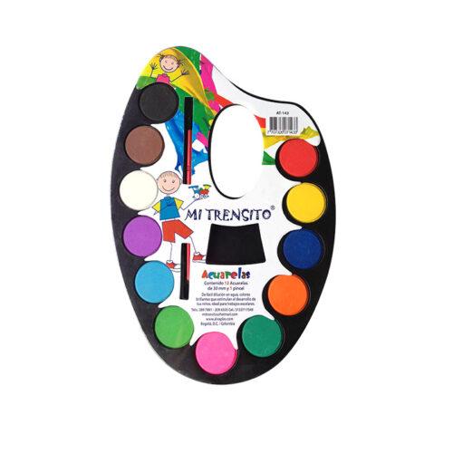 Acuarela Básica X12 Colores + Pincel