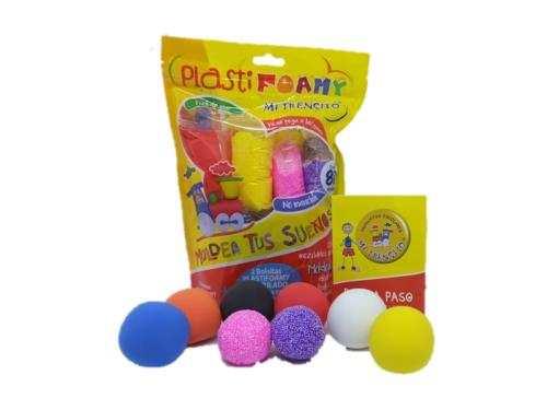 Nuevo!!!  Plastifoamy 6 Colores + 2 Granulados